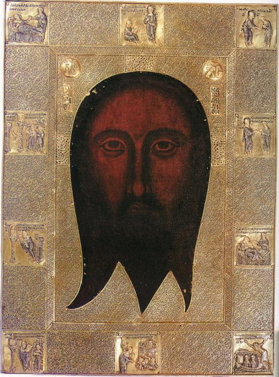 Нерукотворний образ Христа з клеймами історії Манділіона на окладі. Візантія бл. 1362 р